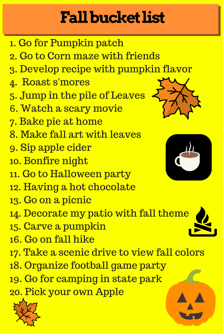 list of things to do in fall season