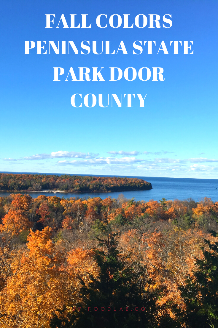 view of Lake Michigan from Peninsula state park Door county