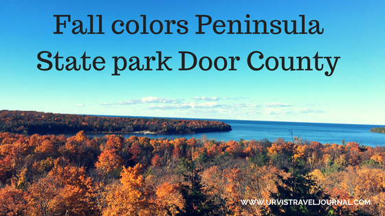Fall colors Peninsula state park Door county