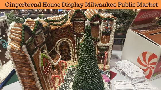 Ginger Bread House Display Milwaukee Public Market