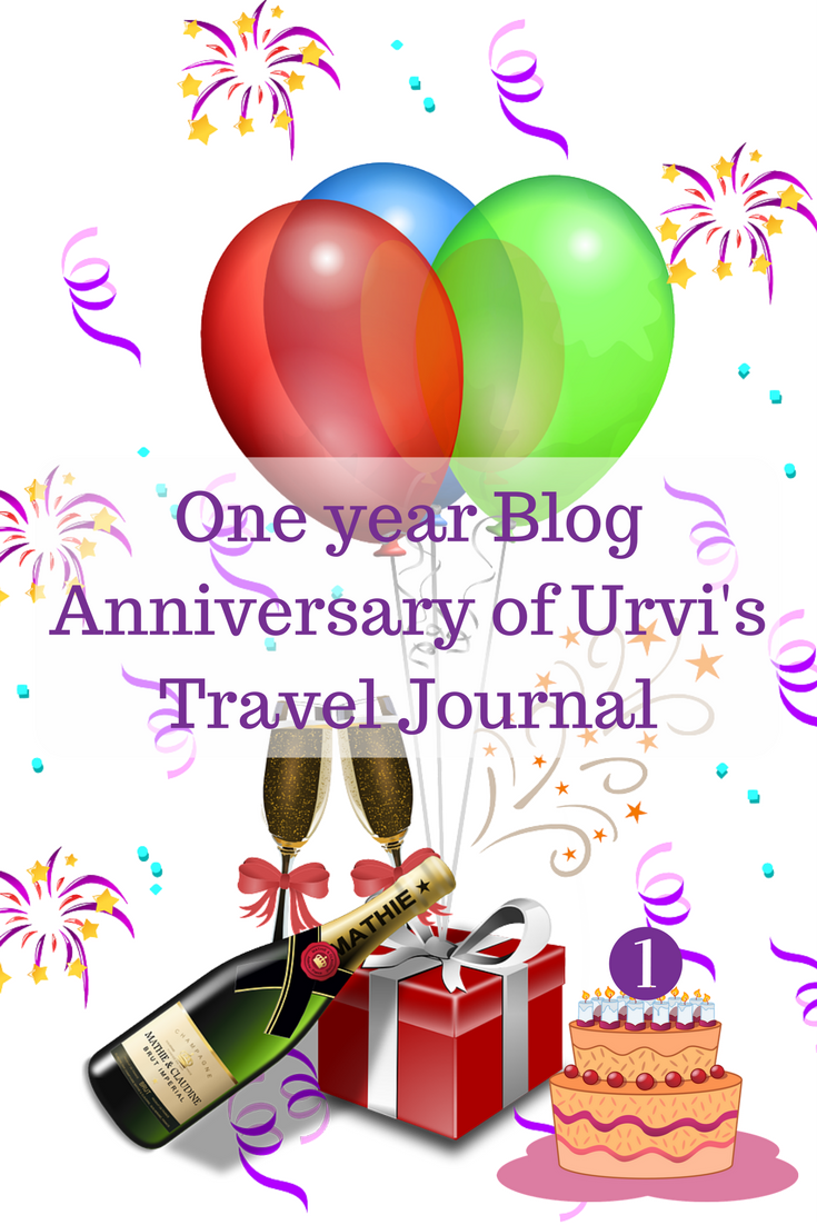 One year Blog Anniversary of Urvi's Travel Journal