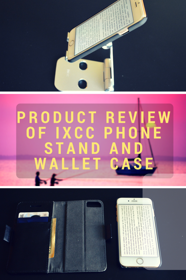 product review of iXCC phone stand and wallet case