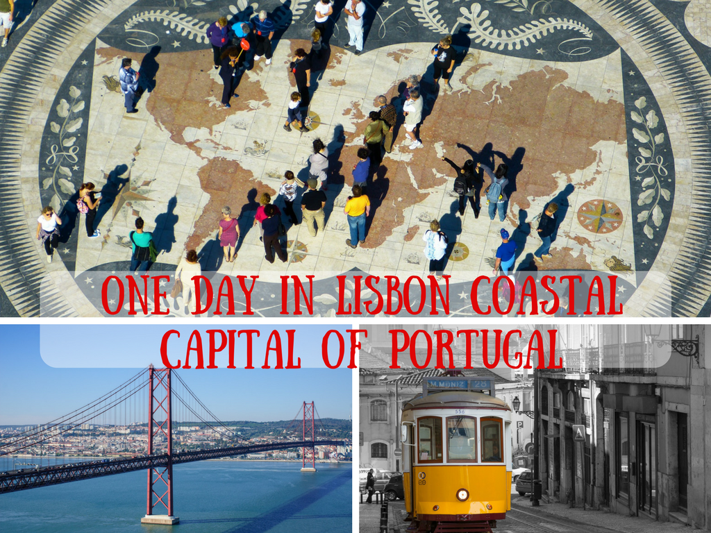 One day in Lisbon coastal capital of Portugal