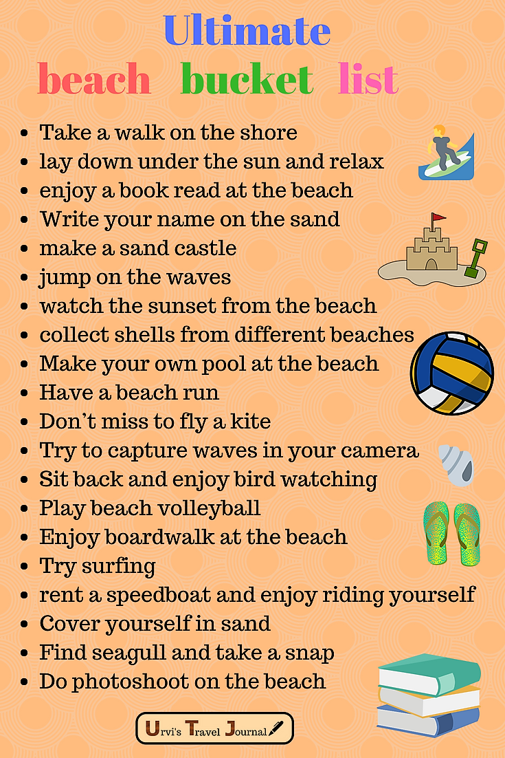 Ultimate beach bucket list