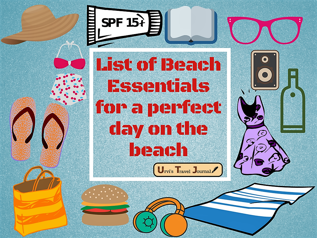 List of Beach Essentials for a perfect day on the beach