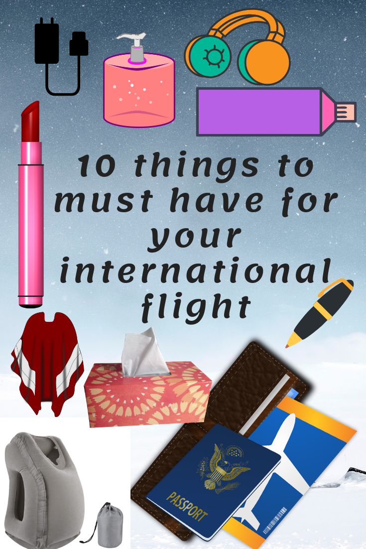List of the things you should carry in international flight