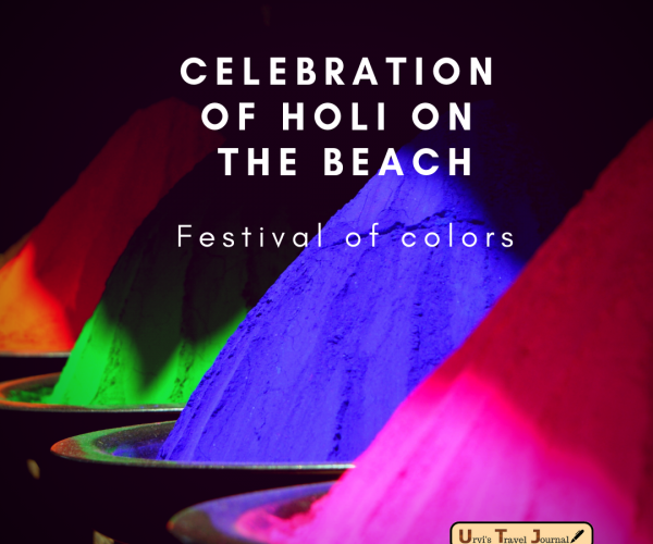 celebration of holi on the beach