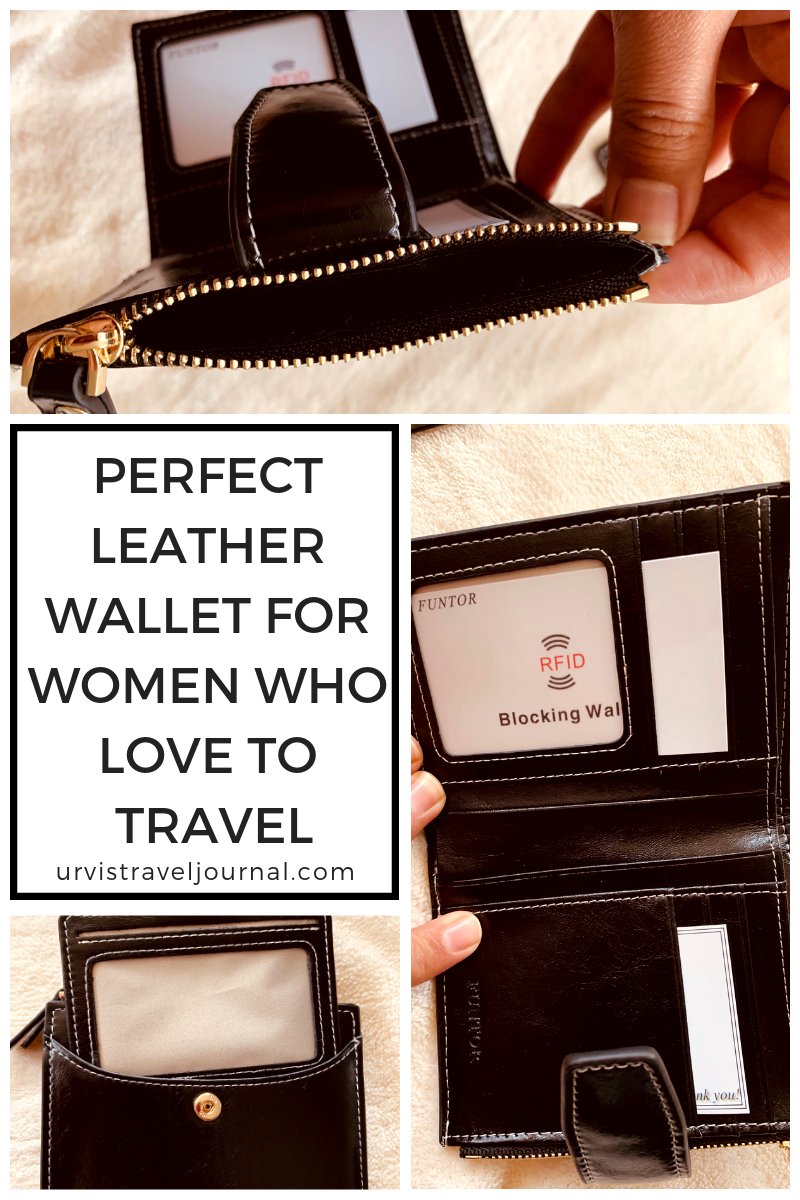 Perfect leather wallet for women who love to travel