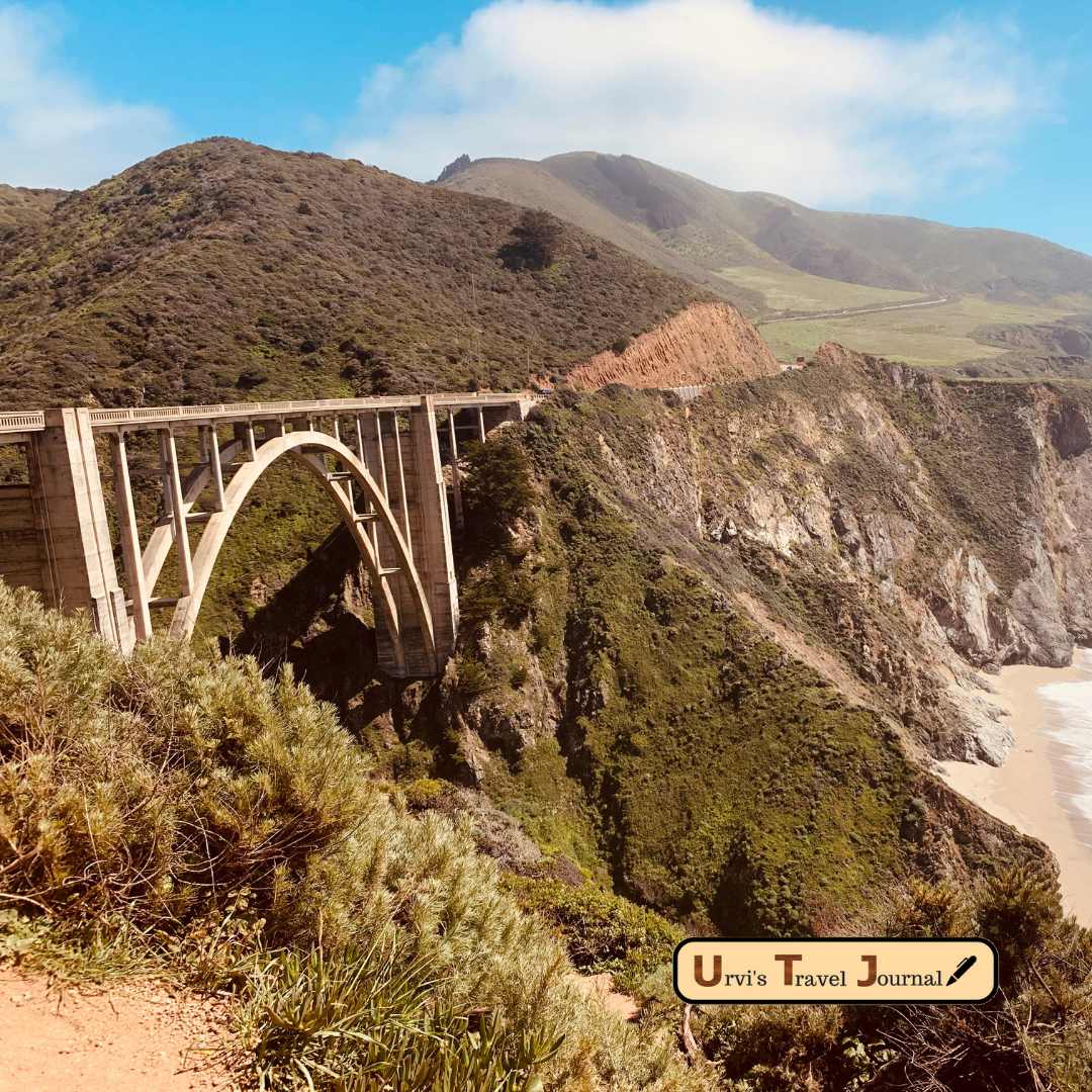 US highway 1 scenic route in California USA