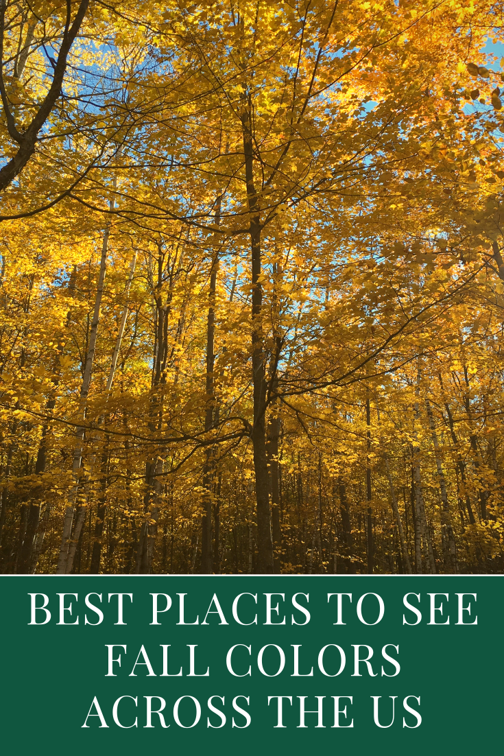 where to see fall colors in the US