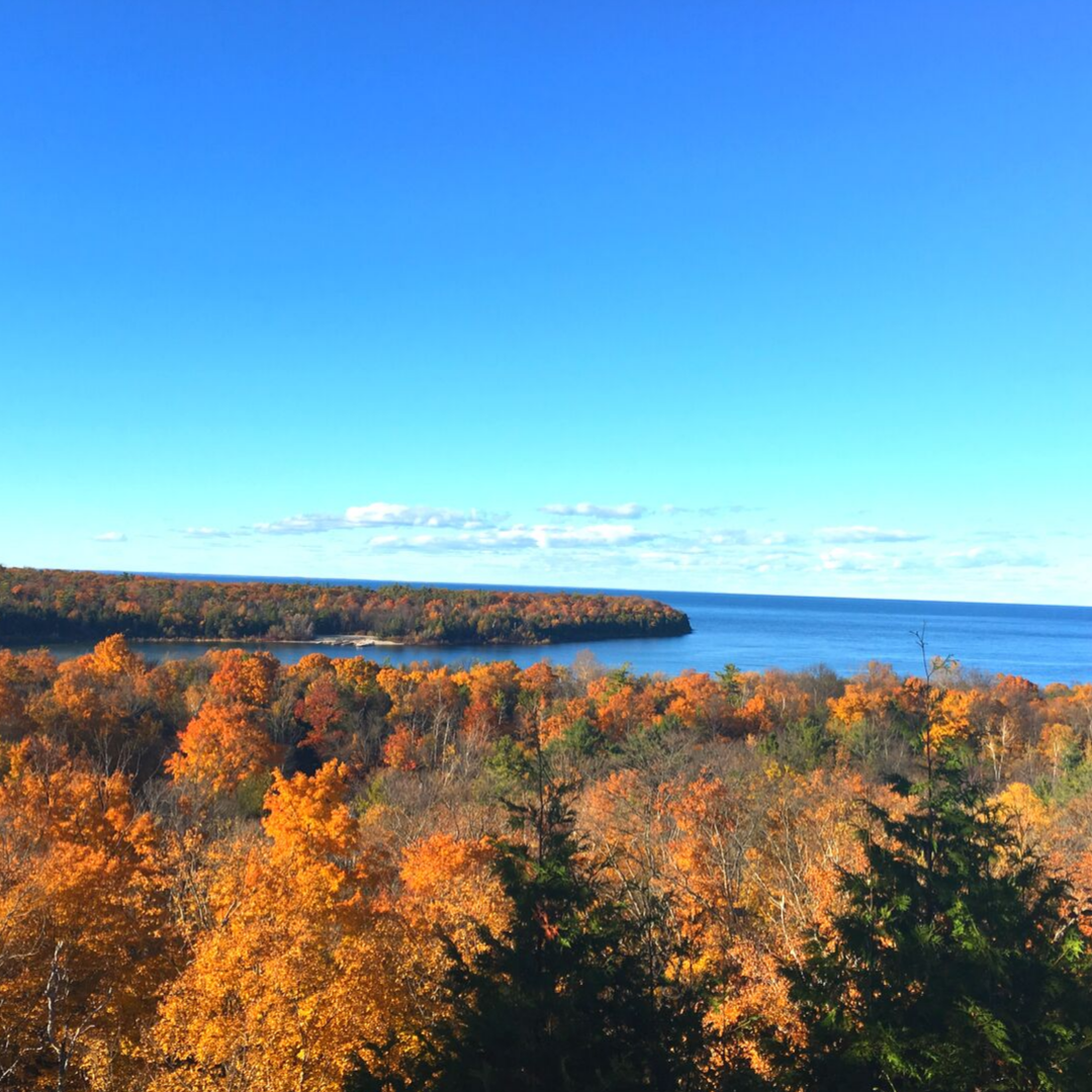 Fall colors in door county