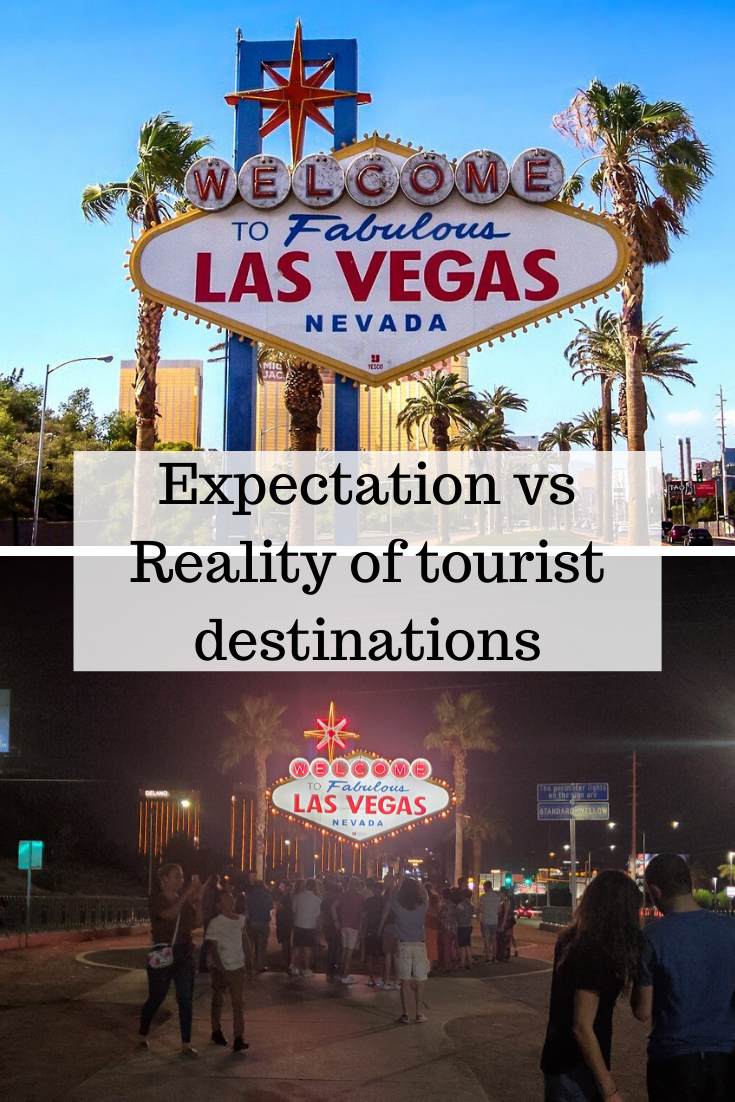 Las vegas fabulous sign Expectations vs reality