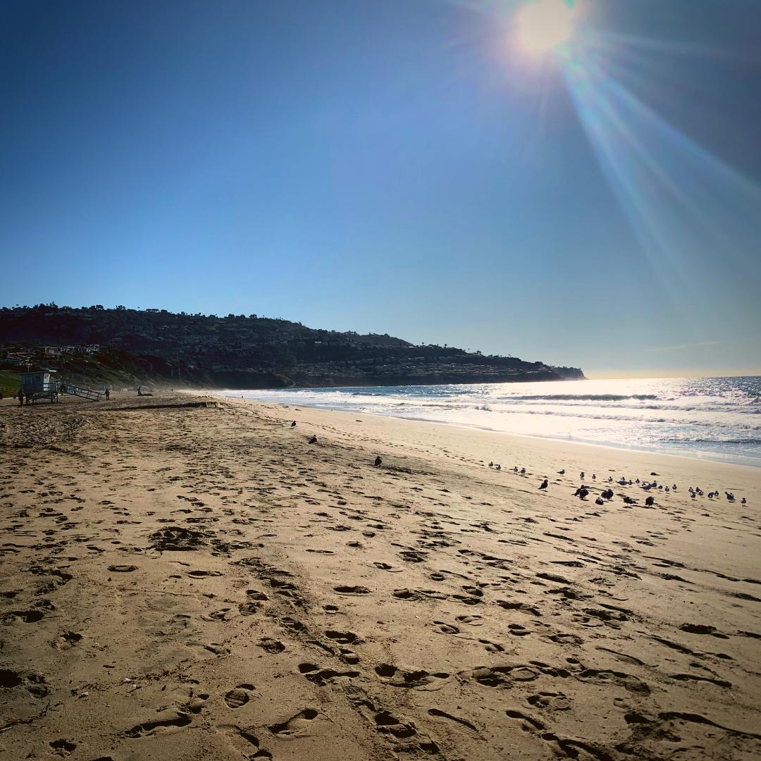 Stroll on Torrance beach