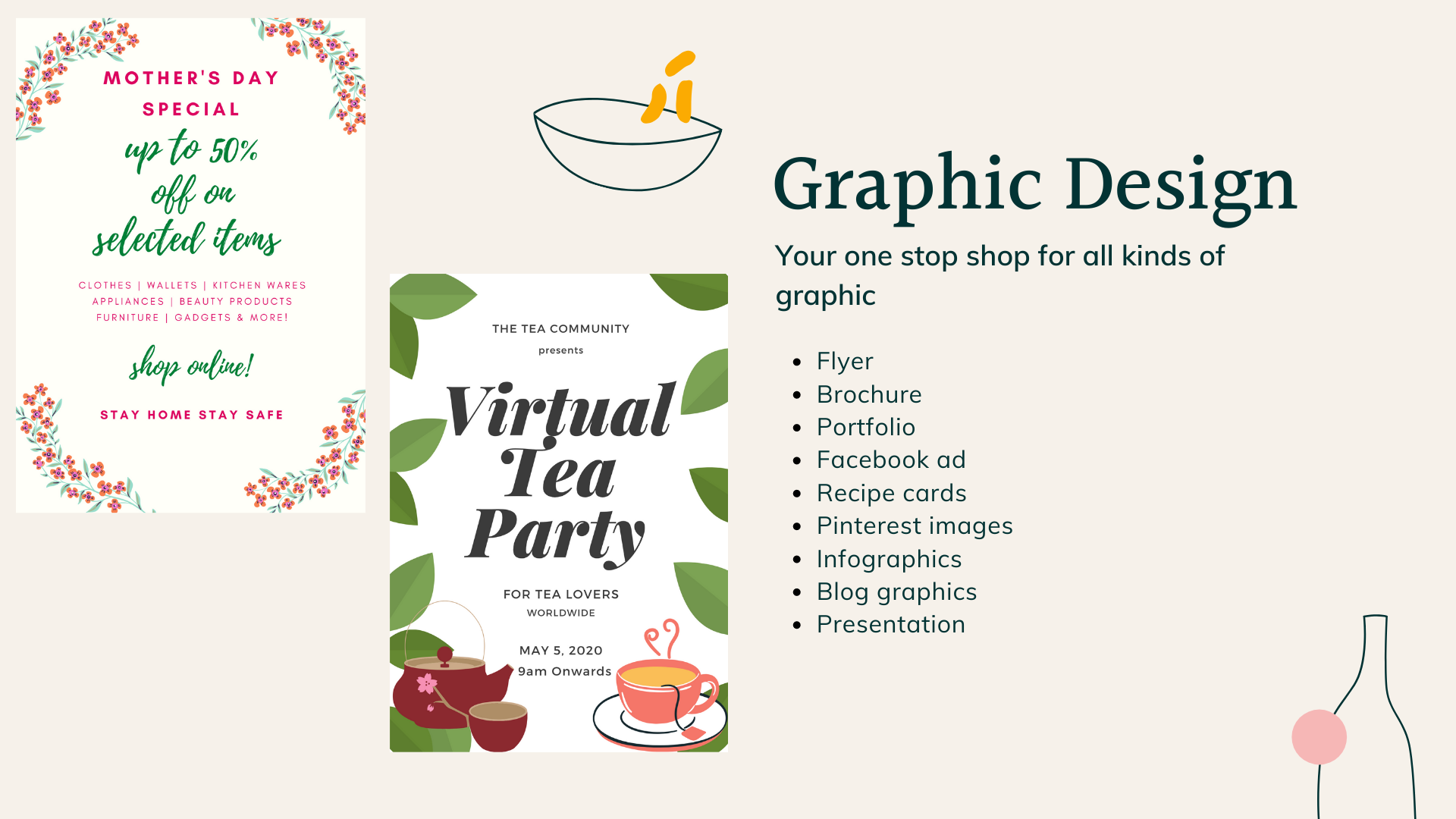 Poster, flyer, brochure, Pinterest graphics contact us to design any type of graphic