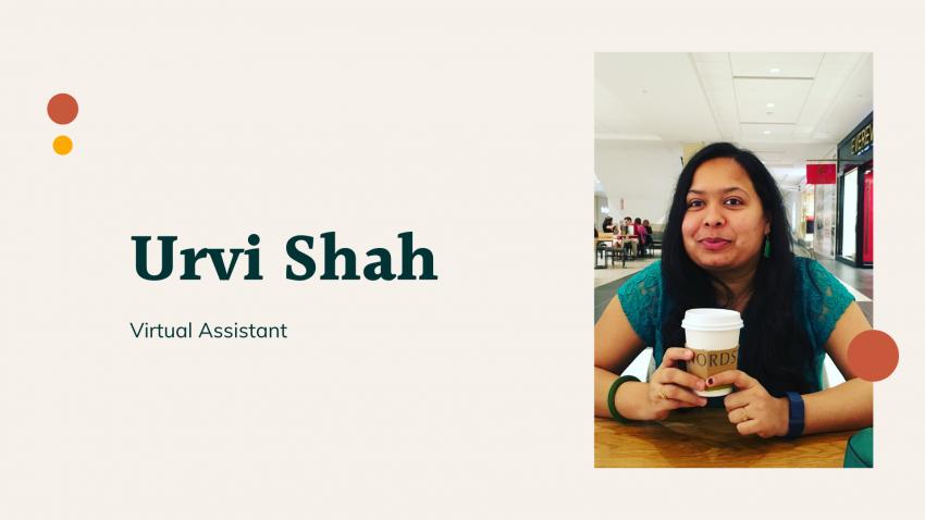 Urvi shah as virtual assistant